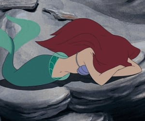 ariel, disney, and cry image