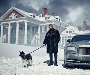 car, dog, and Drake image
