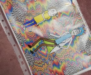 high, rainbow, and trippy image