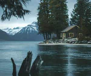 cozy, house, and lake image