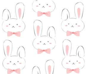 background, bunny, and pattern image