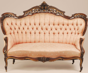 sofa, pink, and vintage image