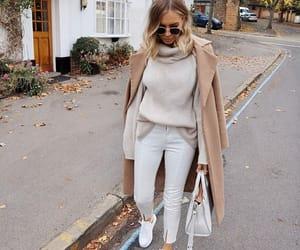 coat, fashion, and woman girl image