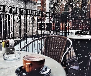 coffee, winter, and city image