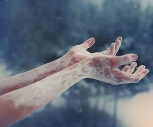 hands, snow, and winter image