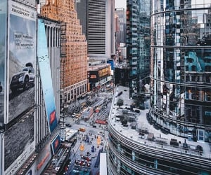 new york, travel, and building image