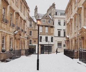 city, snow, and travel image