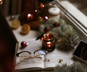 aesthetic, winter, and books books image