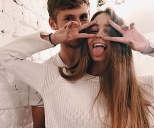 couples, cute, and couplegoals image