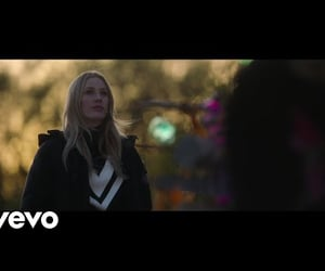 Ellie Goulding, river, and video image
