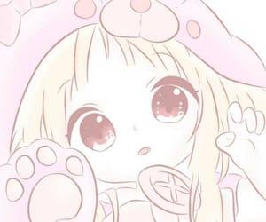 anime, pink, and soft image