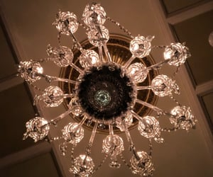 chandelier, decor, and diamond image