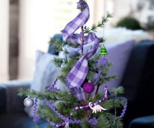 christmas, christmas tree, and purple image