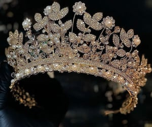 crown, glam, and glamorous image