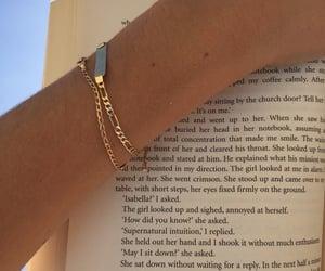 book, bracelet, and gold image