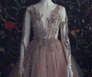dress, long sleeve, and purple image