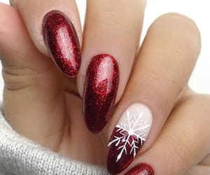 nails, red, and snowflake image