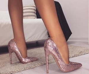 heels, sexy, and glitter image
