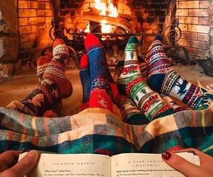 cozy, holiday, and socks image