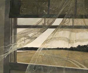 window, art, and andrew wyeth image