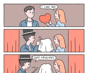 broken hearted, just friends, and comic image