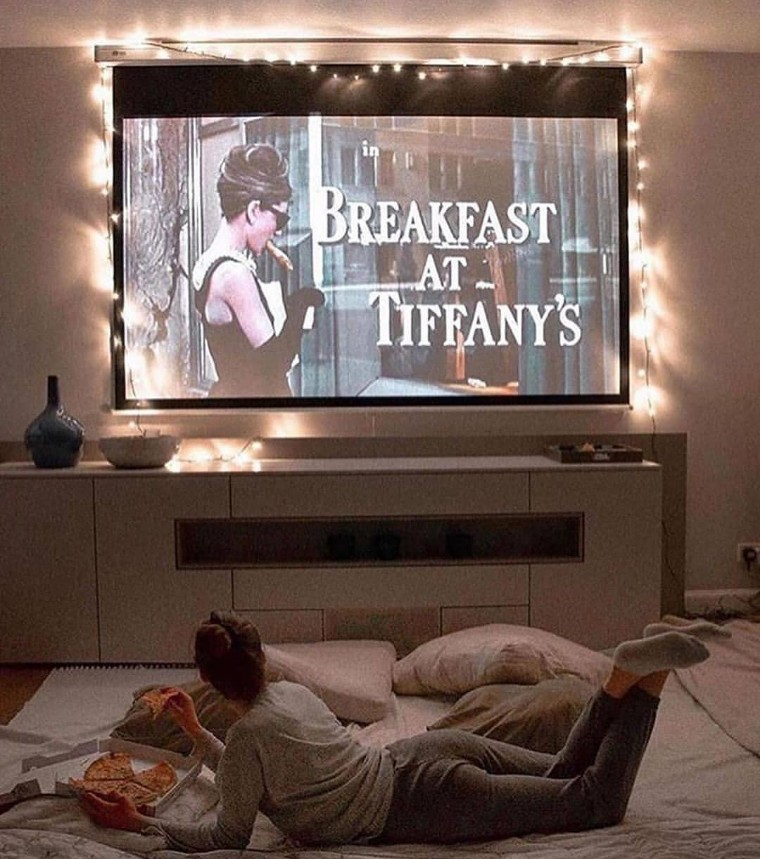 Breakfast at Tiffany's, movie, and pizza image