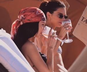 bella hadid, drink, and fashion image
