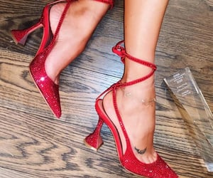 paris, red, and 👠 image
