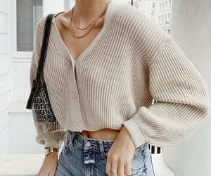 street style lovely and jersey cream denim image
