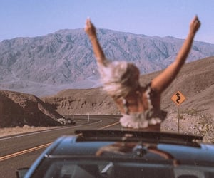 girl, car, and free image