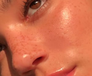 aesthetic, close up, and freckles image