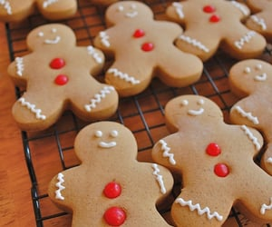 candy, gingerbread cookies, and holidays image