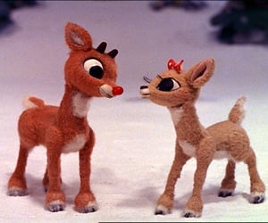 christmas and rudolph image