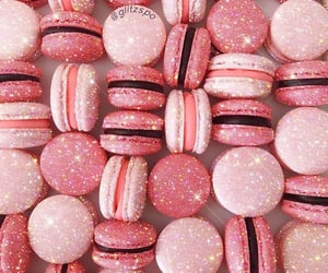 glitter, macaron, and pink image
