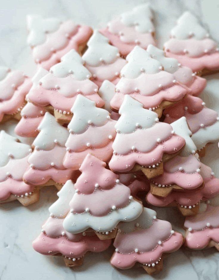 Image de christmas, pink, and Cookies