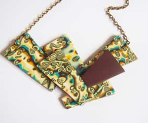 etsy, bronze necklace, and statementnecklace image