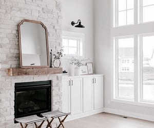 architecture, casa, and fireplace image
