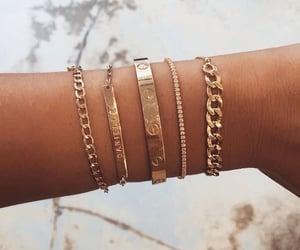 bracelet, gold, and luxury image