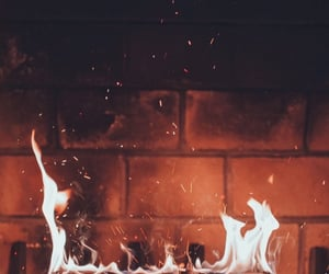 fire and fireplace image