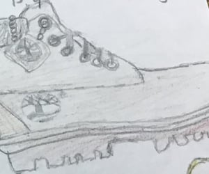 boots, timbs, and drawing image