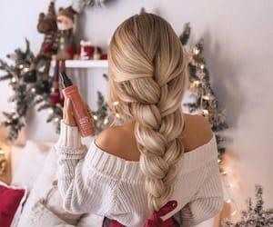 braid, braided hair, and christmas hair image
