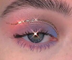 glitter, makeup, and aesthetic image