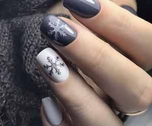 nails, winter, and fashion image