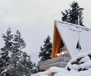architecture, cabin, and clouds image
