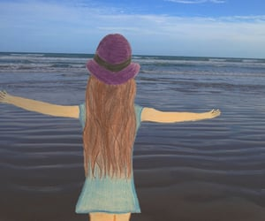 beach, drawing, and freedom image