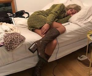asleep, bed, and comfortable image