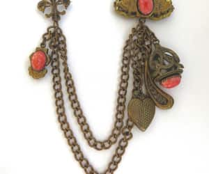 etsy, antique jewelry, and art nouveau brooch image