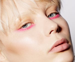 beauty, editorial, and pink image