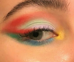 colours, eye, and glow image