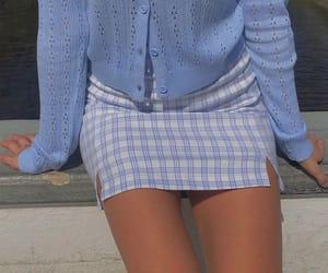 fashion, skirt, and blue image